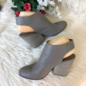 """Vince """"Ingrid"""" Women's Leather Cut Out Ankle Boots"""